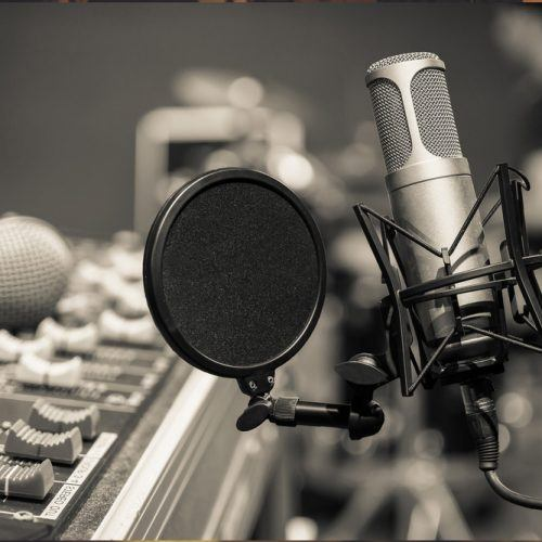 Recording studio mic - LDC Radio - Leeds No.1 Dance Music FM Radio Station-