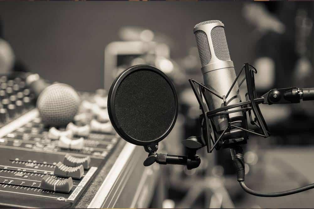 Recording studio mic - LDC Radio - Leeds No.1 Dance Music FM Radio Station-