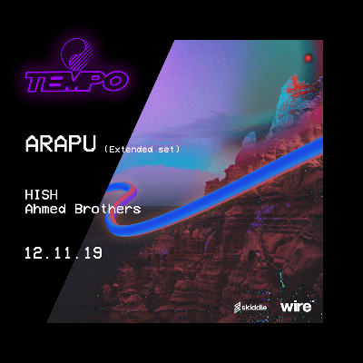 Tempo Presents - Arapu tickets - LDC Radio - Leeds No.1 Dance Music FM Radio Station